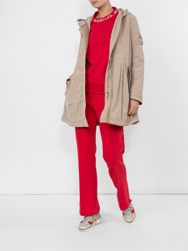 Red Drawstring Track Trousers