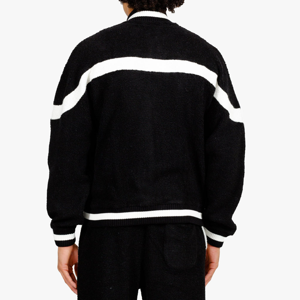 Black Cashmere Terry Track Jacket