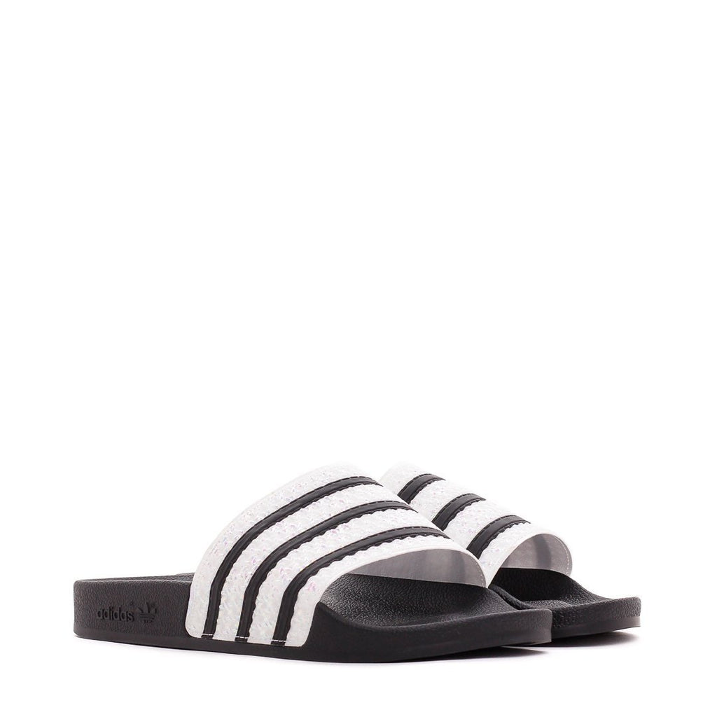Black & White Adilette Slides