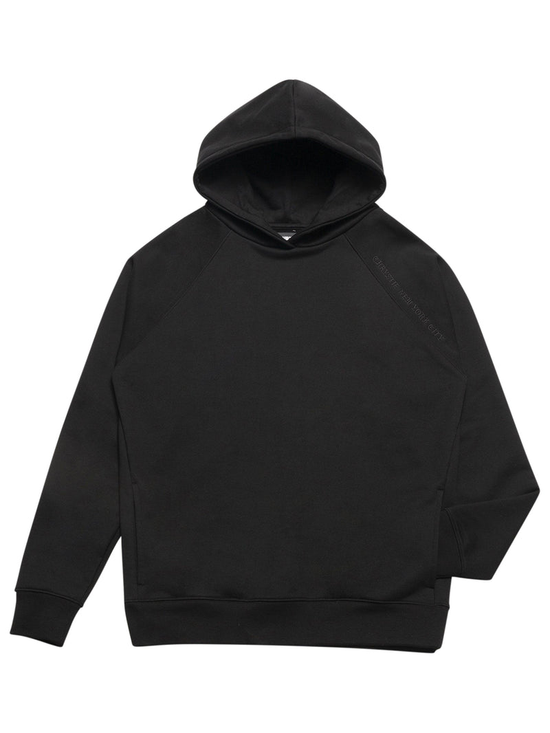 Black Clean Cut Side Pockets Hoodie