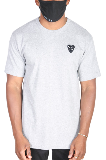 Grey Double Heart T-Shirts