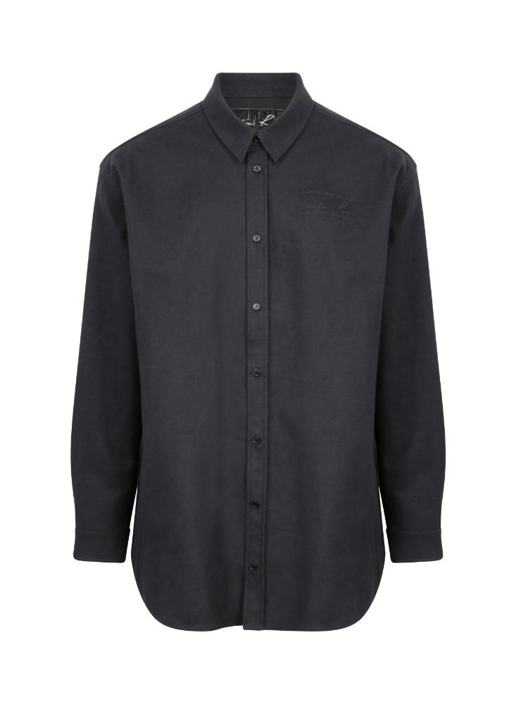 Black Oversized Bonded Shirt