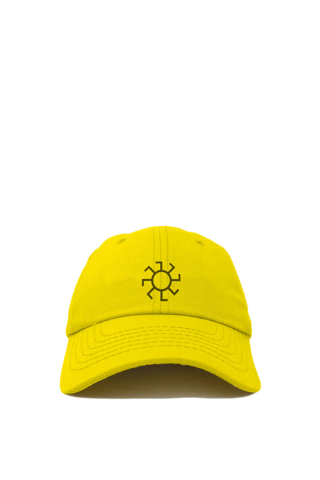 Yellow & Black Sunwheel Embroidered Hat