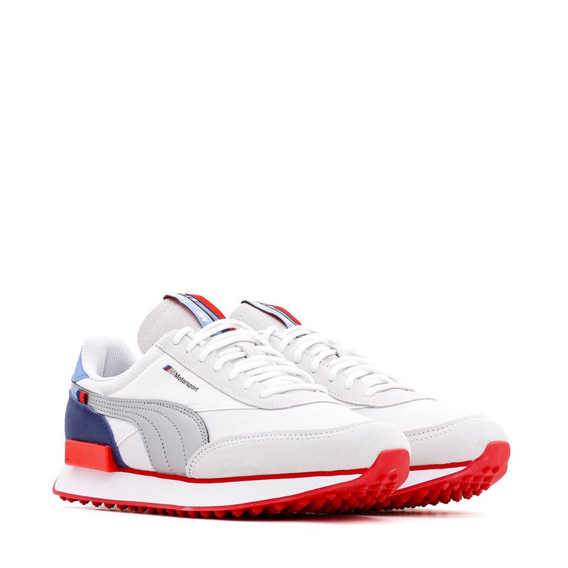 White & Red Future Rider Sneakers