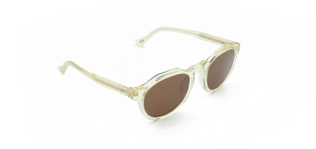 Brown & Ivory Pinto Champagne Sunglasses