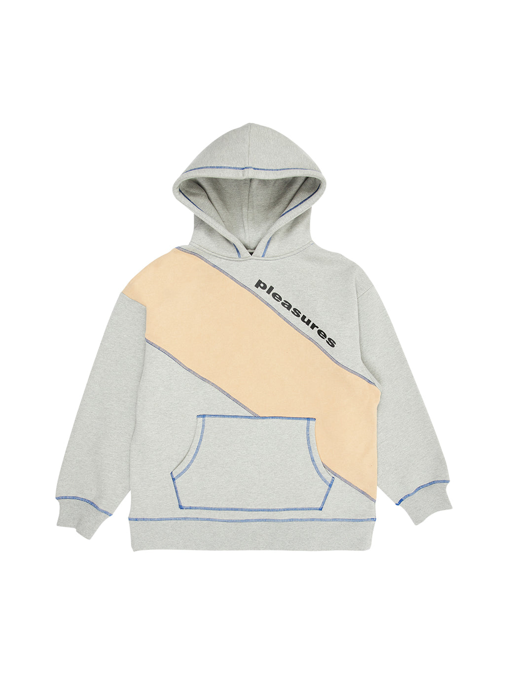 Gray Collapse Hoody