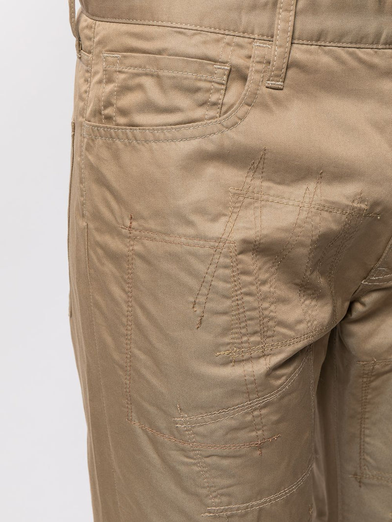 Beige Reworked Khaki Pants