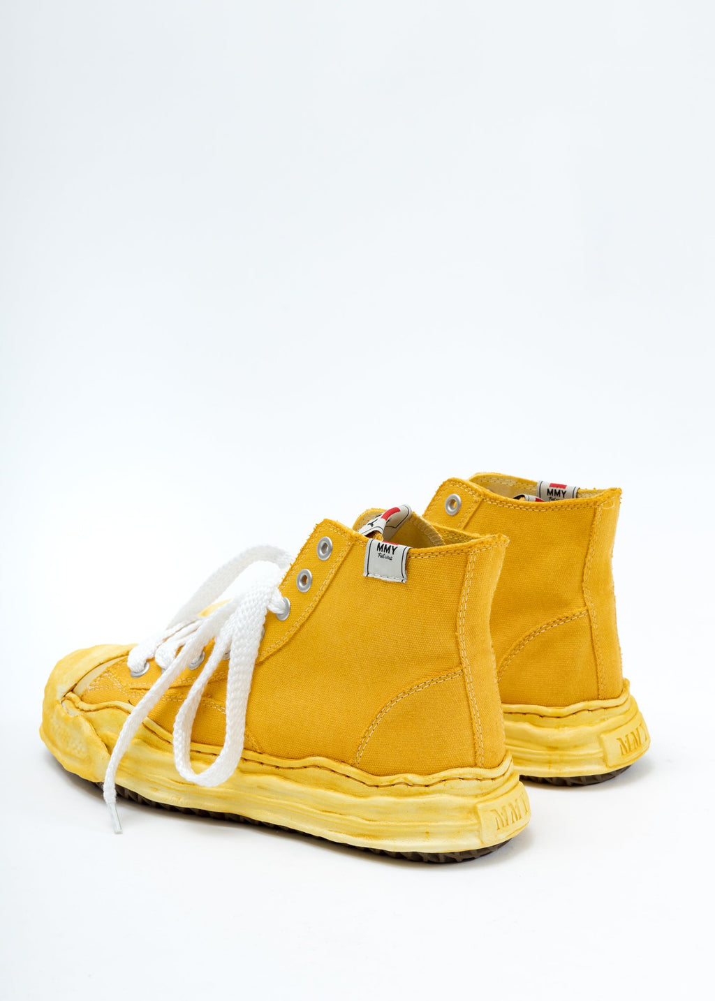 Yellow Overdyed High Top Sneakers
