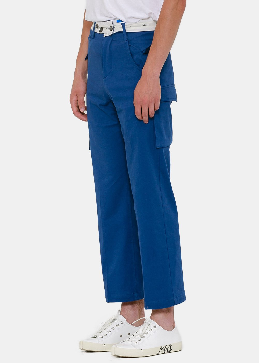 Blue Asymmetric Pants