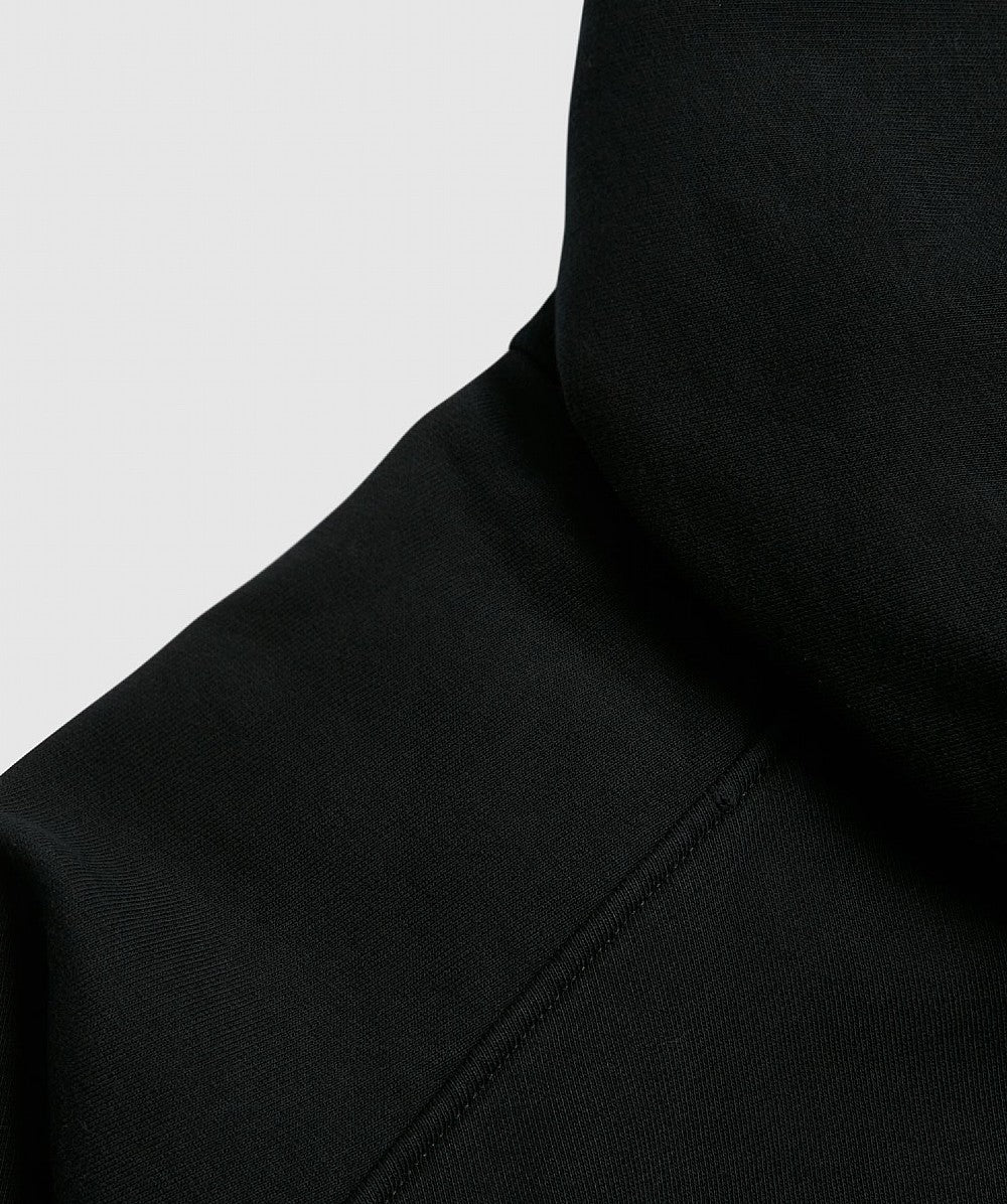 Black Oversized Big Pin Hoodie