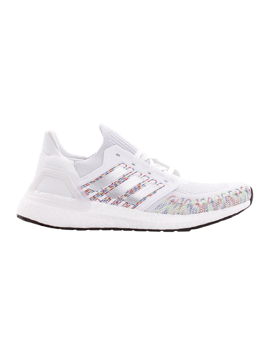 White and Multi Ultraboost 20 Sneakers