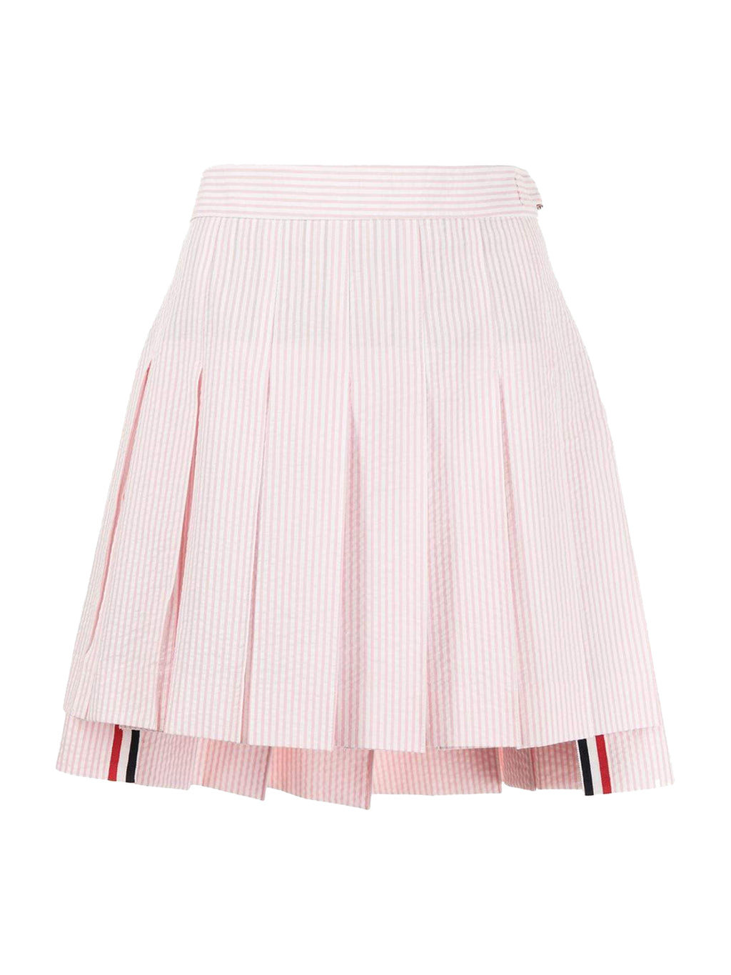 Light Pink Mini Dropped Back Pleated Skirt