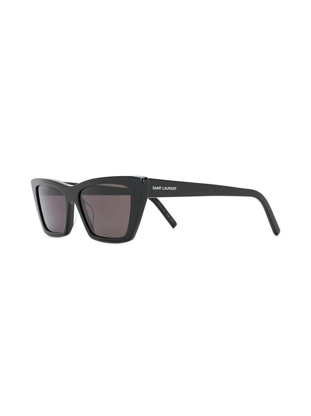 Shiny Black New Wave Cat Eye Sunglasses
