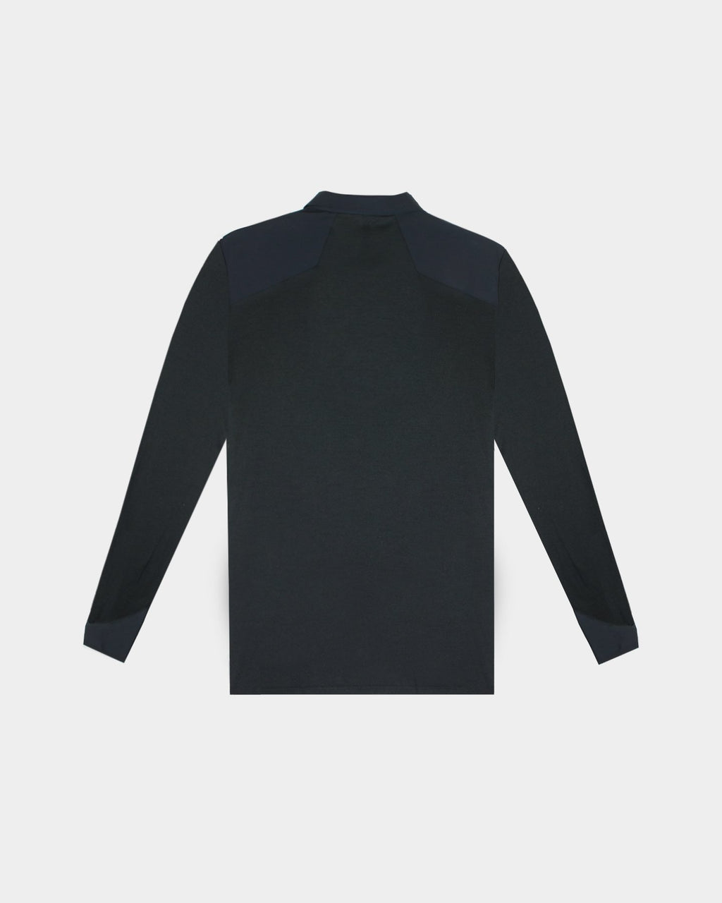 Black Frame LS Polo T-Shirt