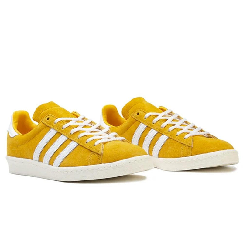Gold & White Campus 80s Sneakers