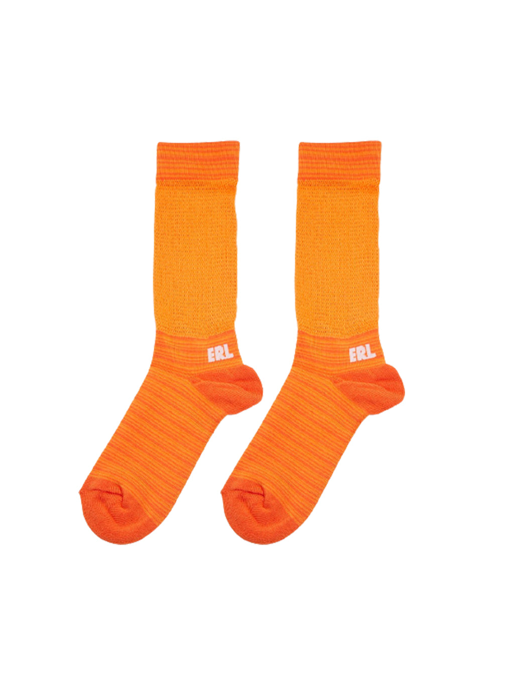 Orange & Pink Two Tone Logo Socks