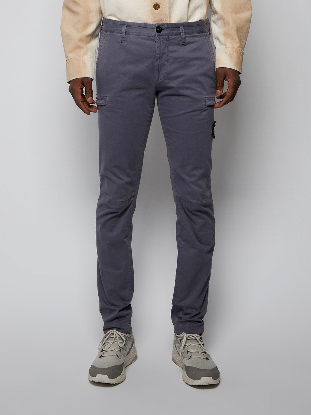 Blue and Grey Chino Trousers