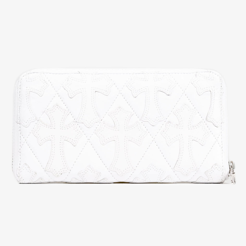 White CH Cross Long Wallet
