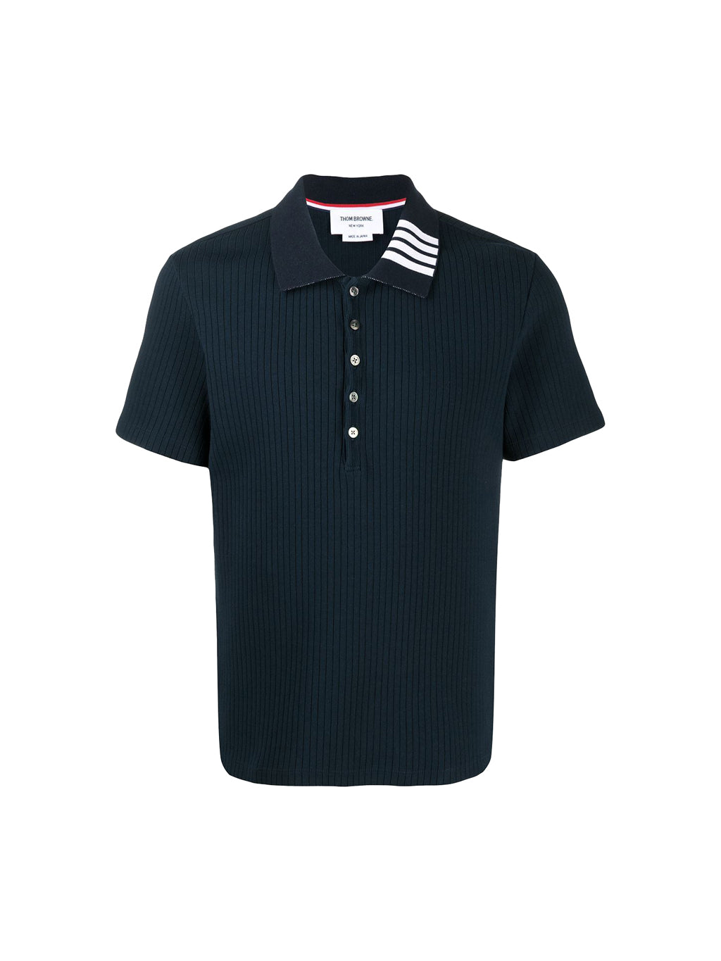 Navy 4 Bar Collar Polo T-Shirt