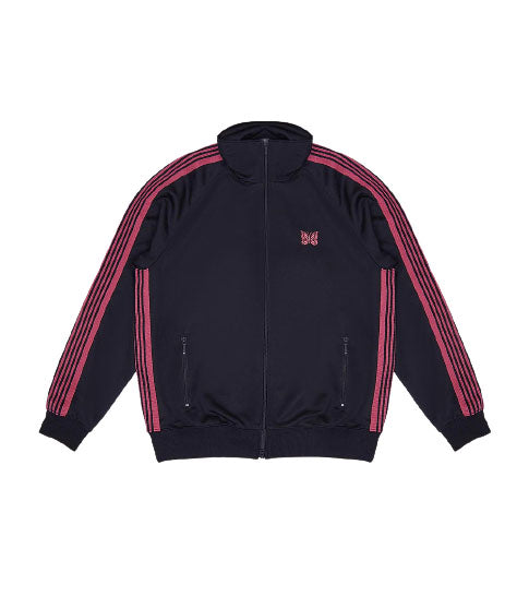 Navy Poly Track Jacket