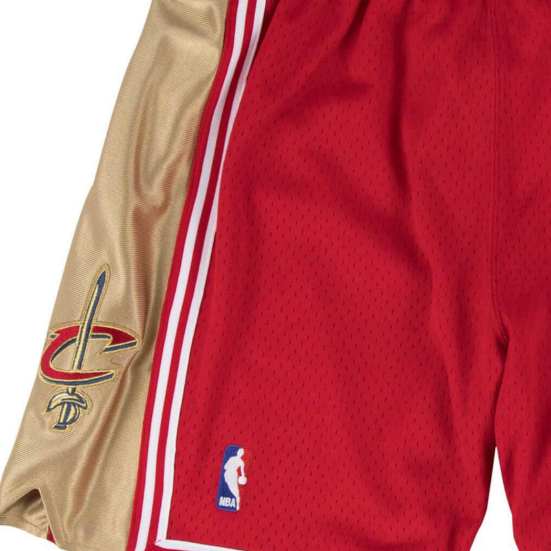 Red NBA Authentic Cleveland Cavaliers Shorts