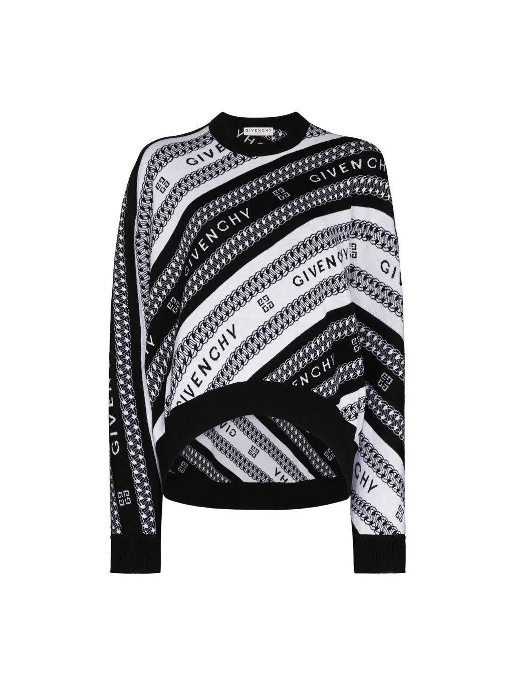 Black & White Chain Logo Sweater
