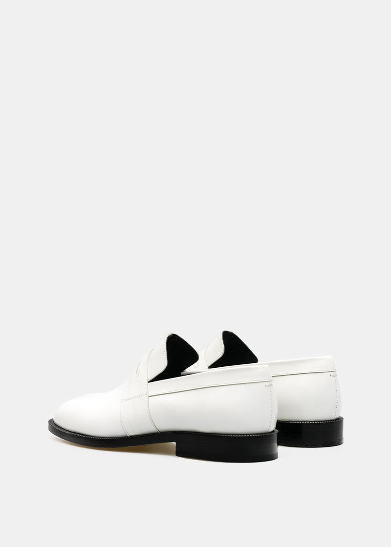 White Tabi Loafers