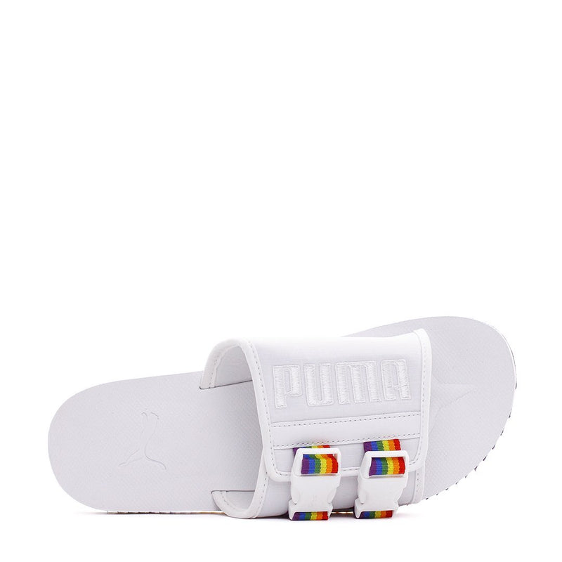 White Wilo Lux Nylon Sandals