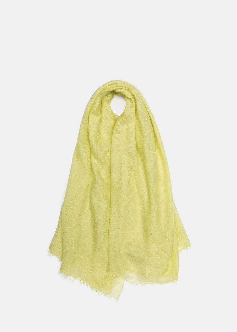 Yellow Sheer Cashmere Scarf
