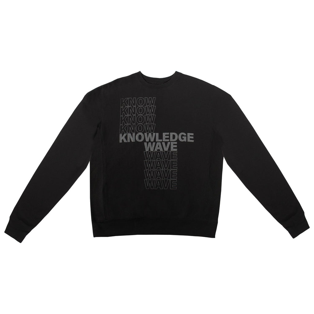 Black & Olive Knowledge Wave Crewneck