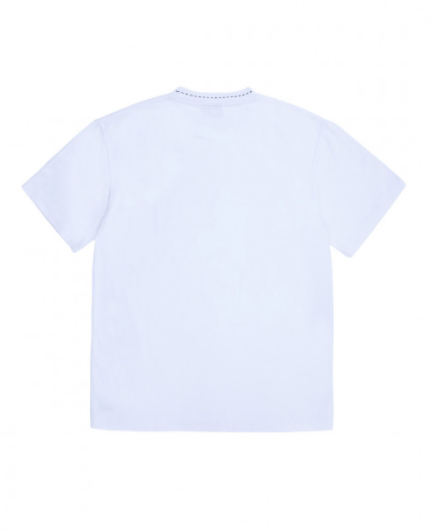 White Cut Here Heavy Weight Shirt