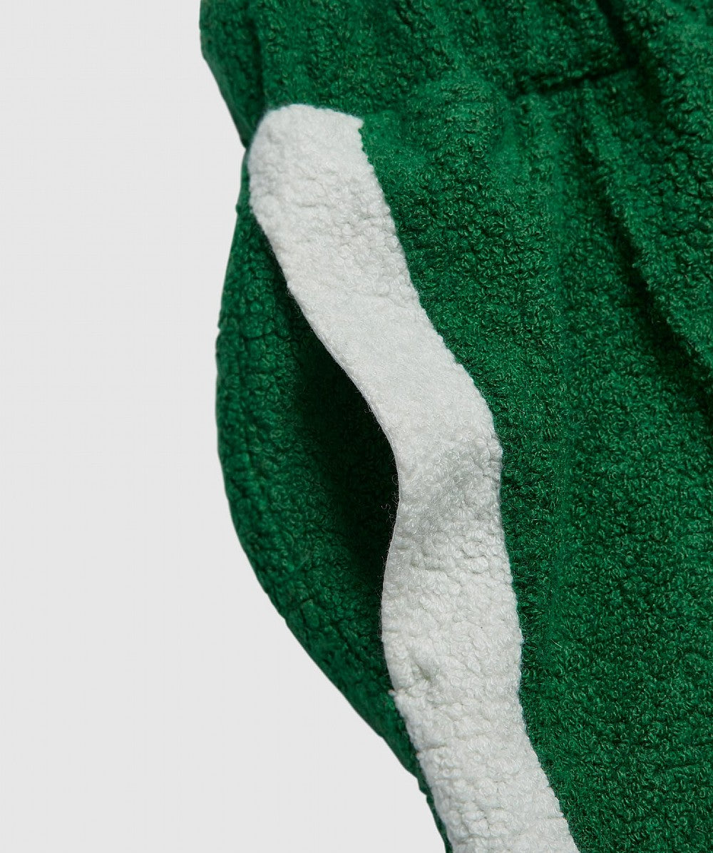 Green Terrycloth Cashmere Track Pants
