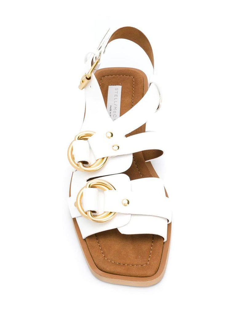White Buckled Pakri Sandals