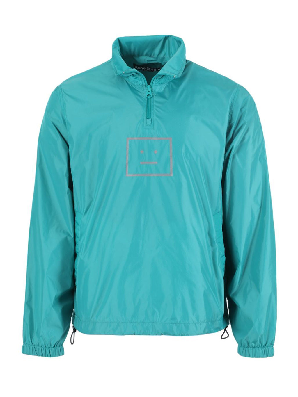 Green Oversize Half Zip Face Jacket