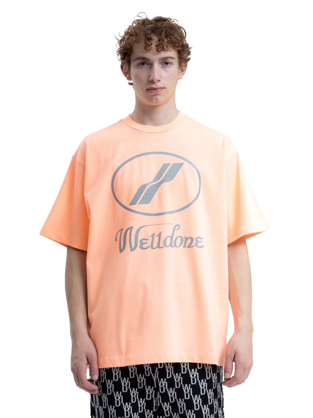 Orange Reflective Logo T-Shirt