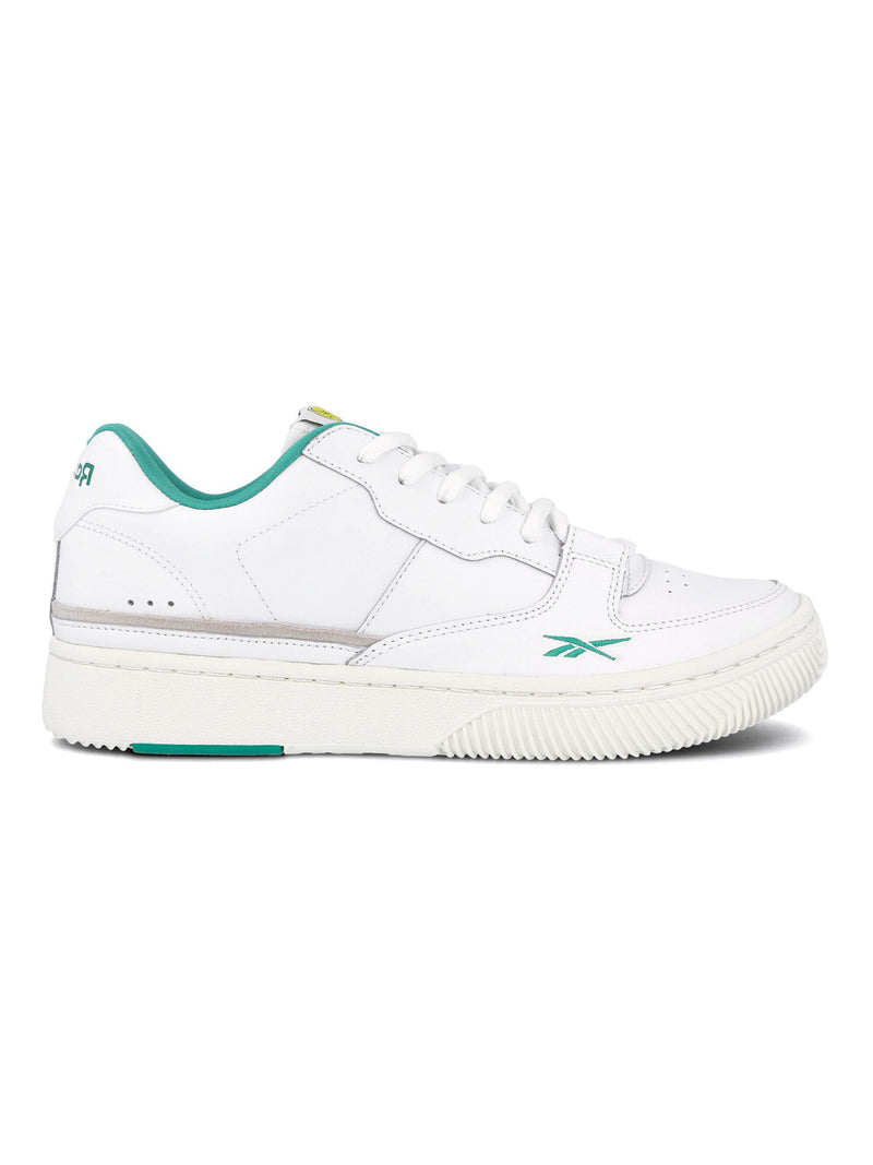 White & Emerald Dual Court Shoes