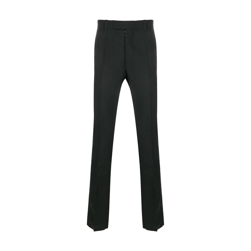 Black Slim-Fit Tailored Trousers