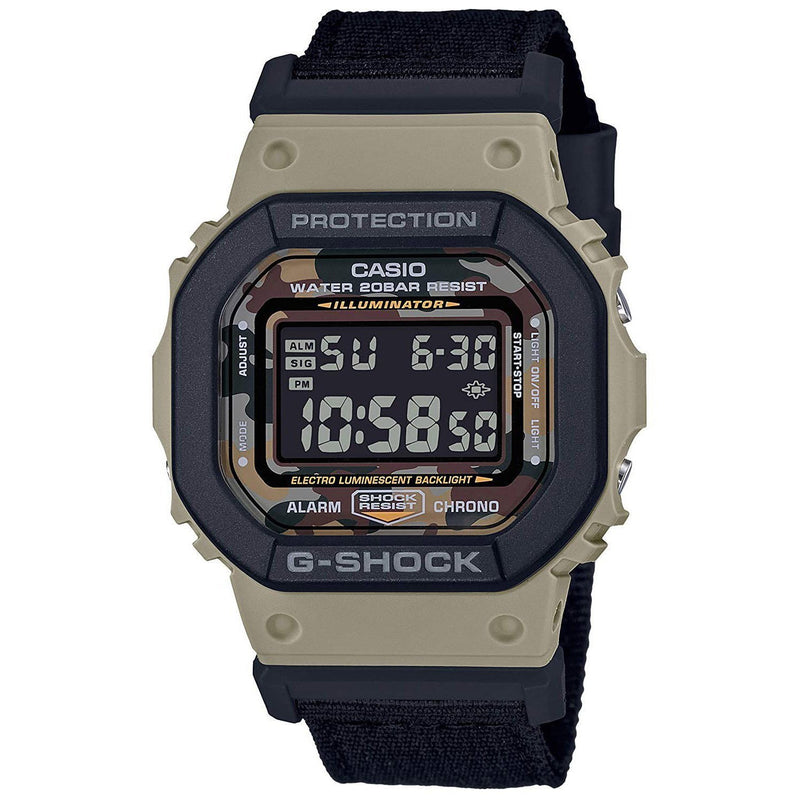 Camo & Black G-Shock 5610 Square Face Watch