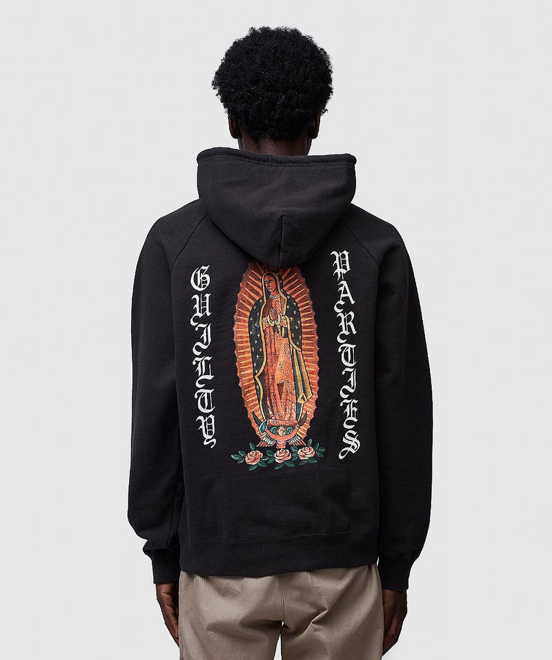 Black Heavy Weight Back Print Hoodie