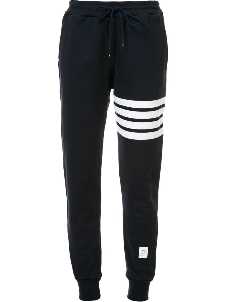 Navy Classic Loop 4-Bar Sweatpants