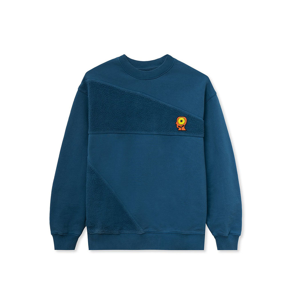 Blue Sunflower Panelled Sweatshirt