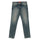 Blue Distressed Straight Leg Jeans thumbnail 1