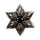 Silver Six Point Star Black Diamond Stud Earring thumbnail 1