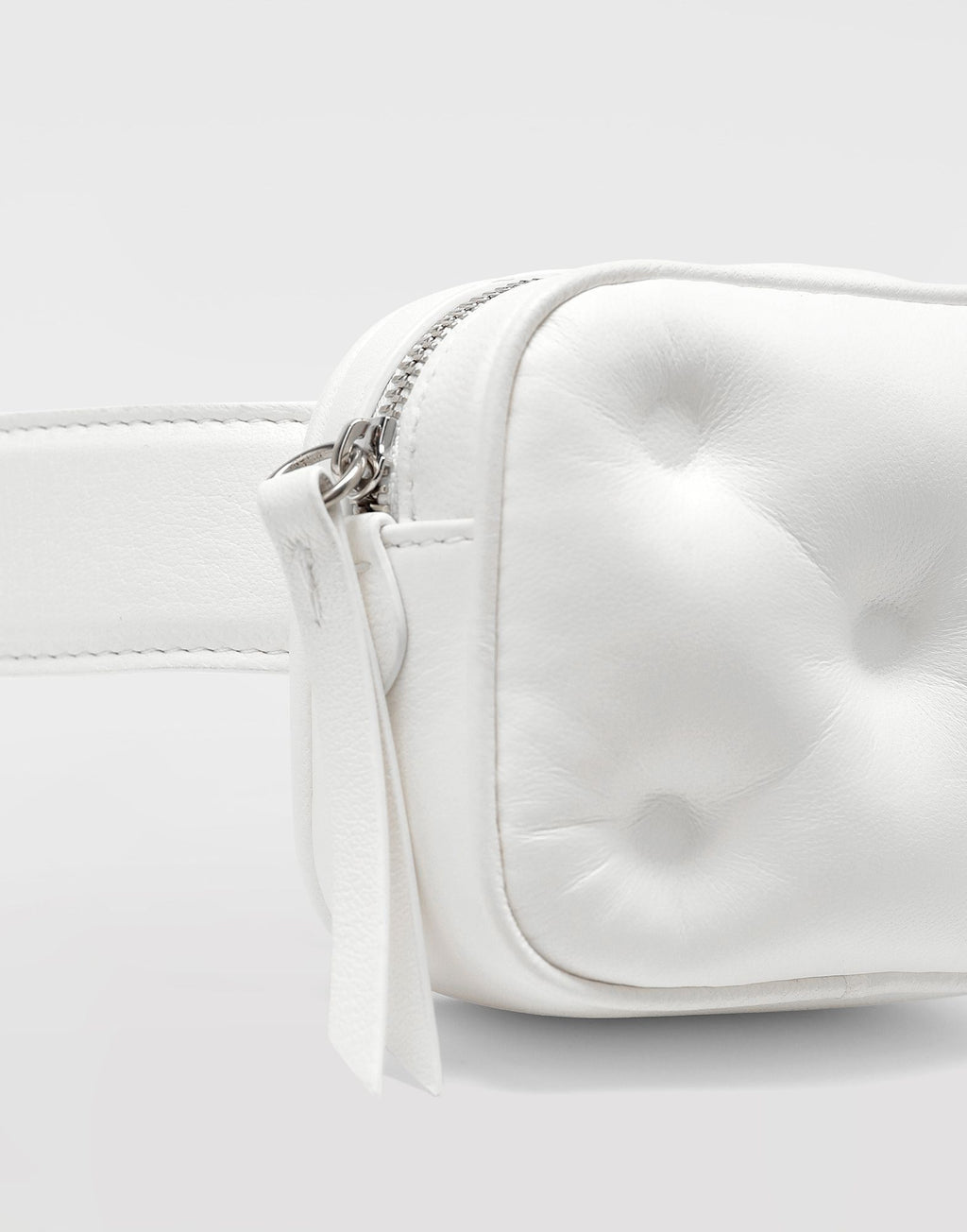 White Glam Slam Mini Belt Bag