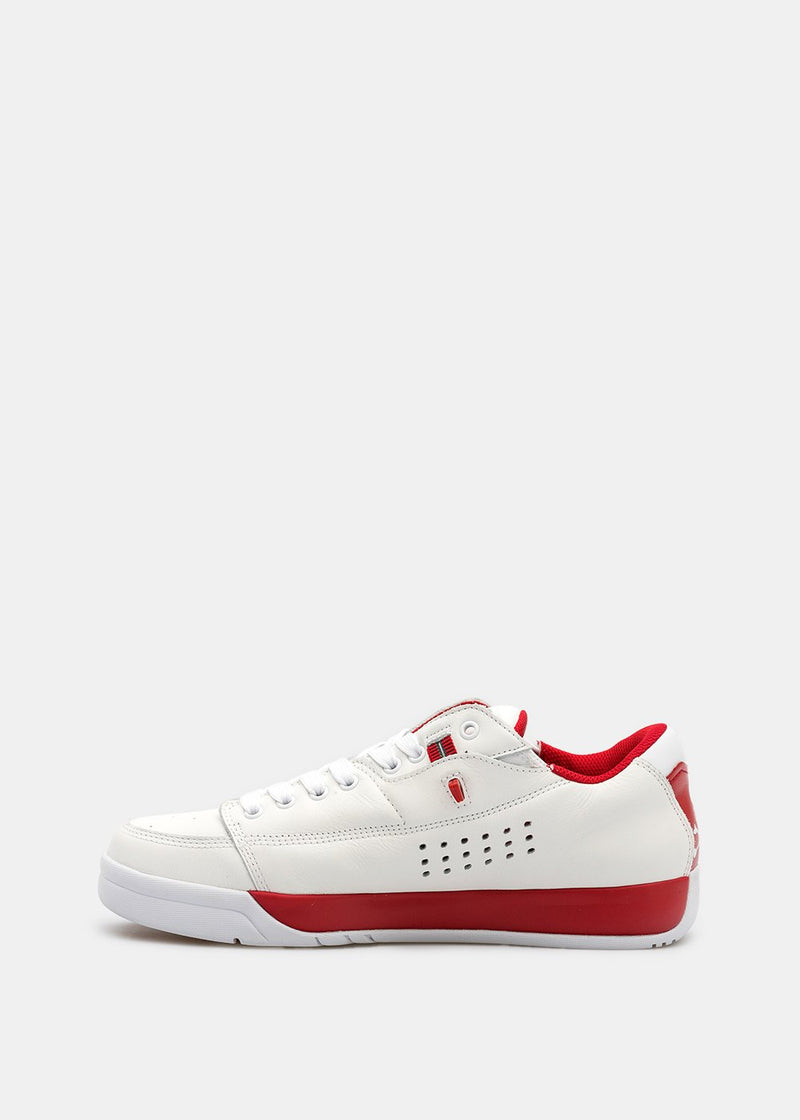 White & Red Gravis Tarmac Sneakers