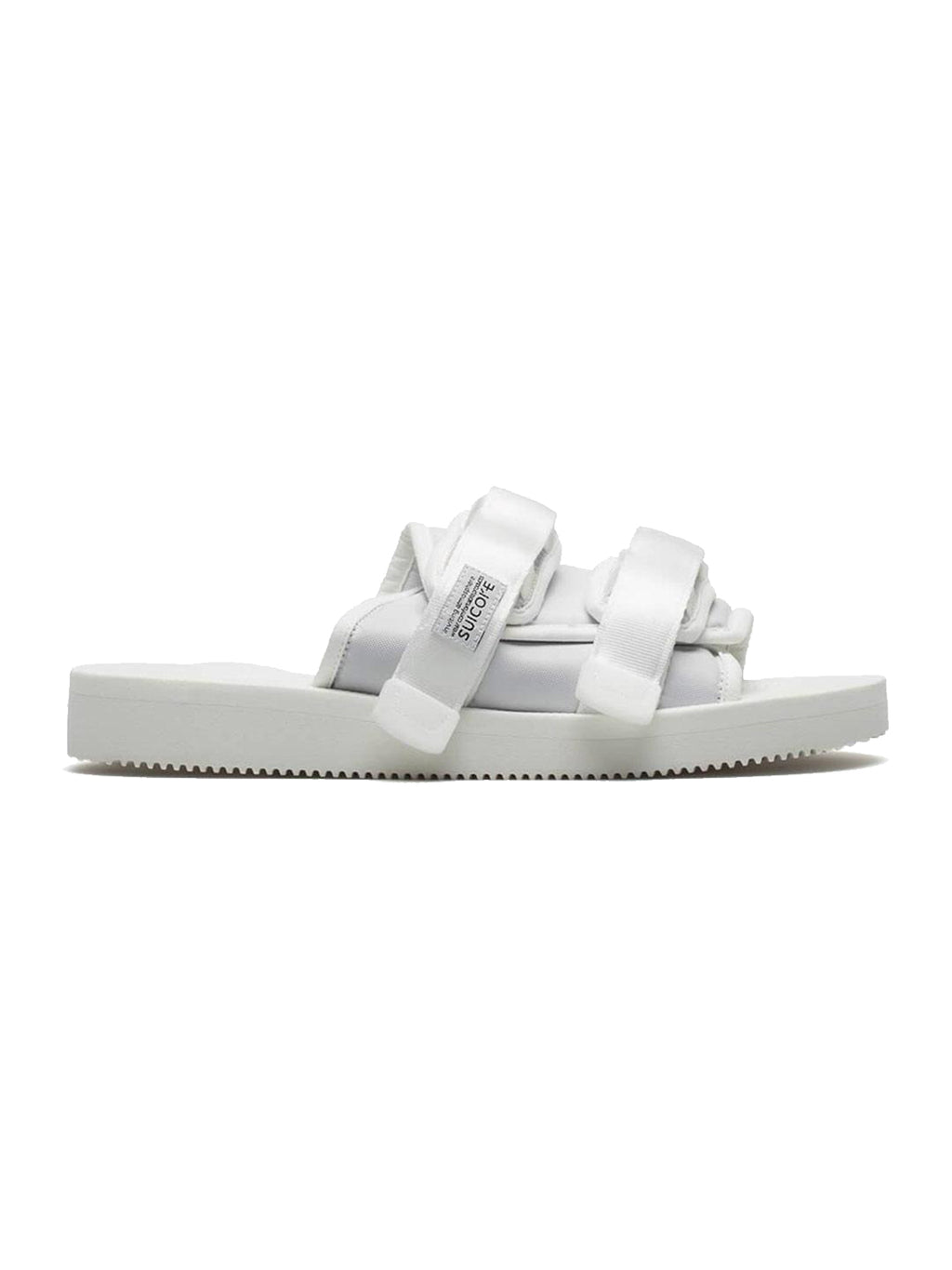 White Moto Cab Sandals