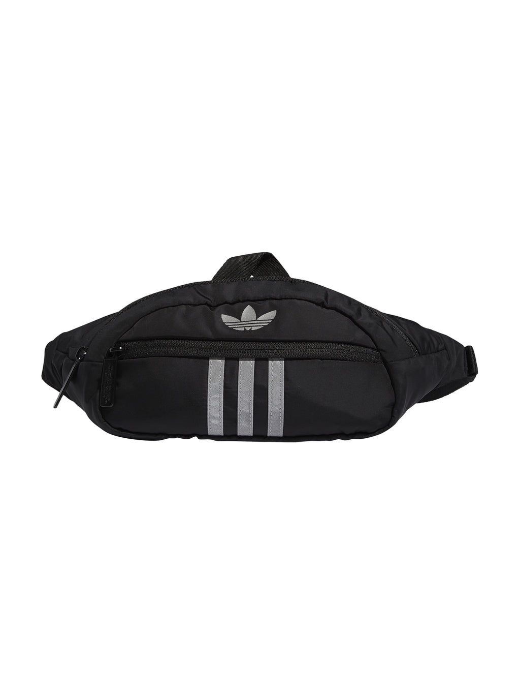 Black Reflective National 3-Stripes Waist Bag