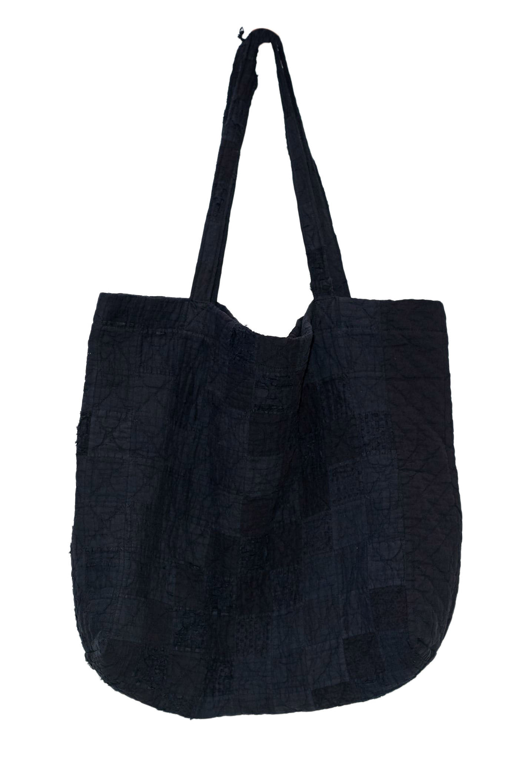 Black Overdyed Quilt Tote