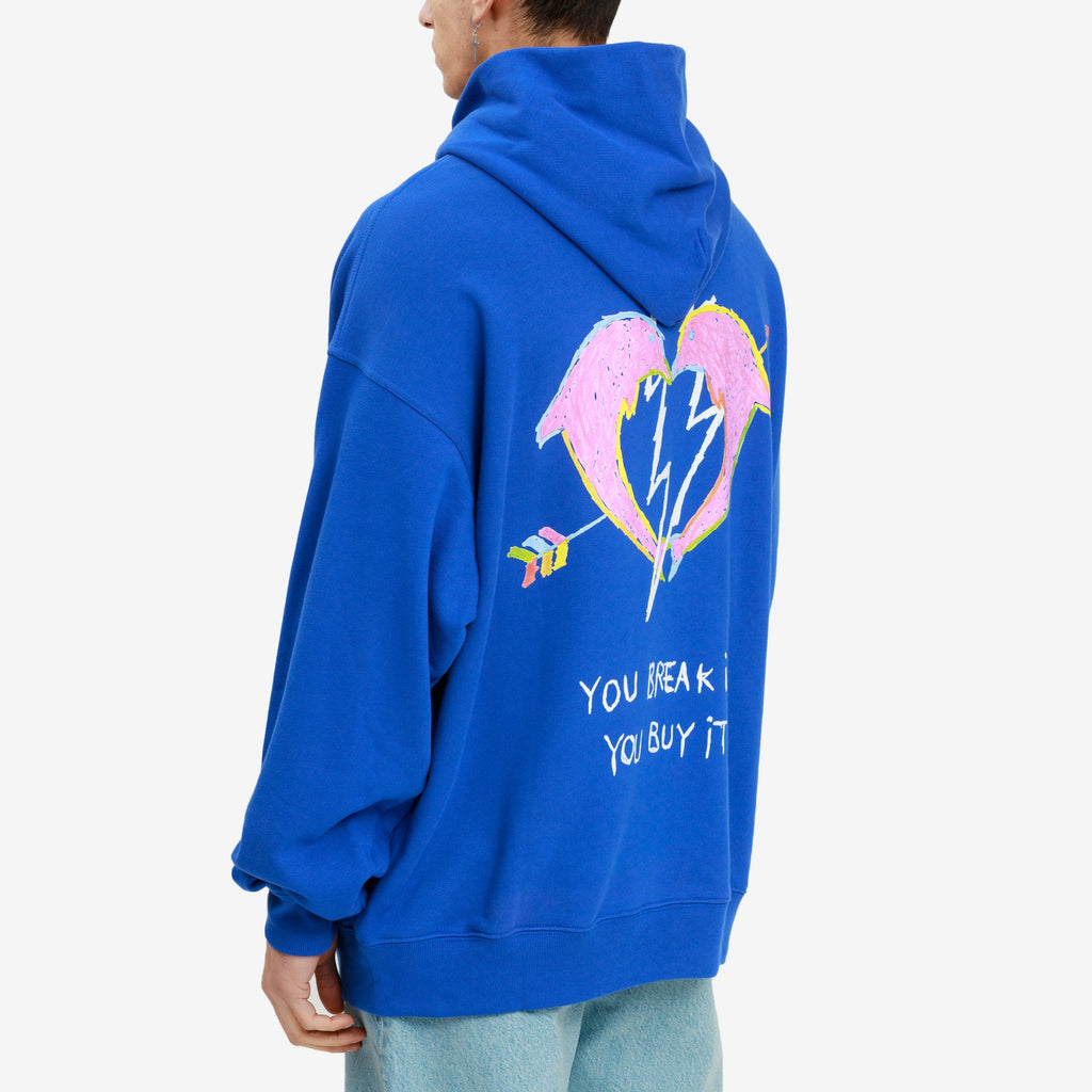 Royal Blue You Break It Hoodie