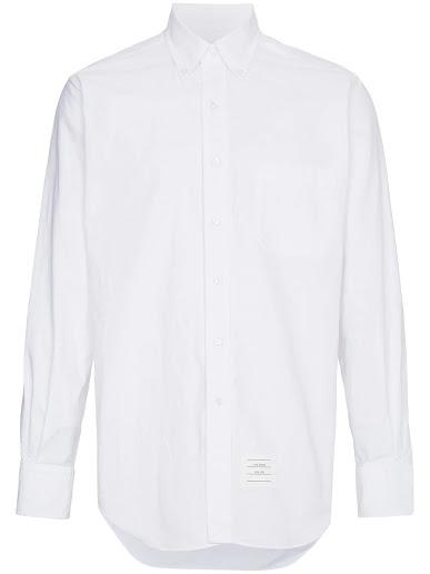 White Classic Placket Oxford Shirt
